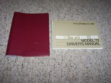 1973 Porsche 911 911T 911E 911S Targa T E S Owner's Owner User Manual w/ Case
