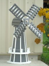 "30"" Poly Dutch Windmill (Gray with White trim)"