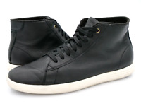 Cole Haan Mens 7M Black Grand OS C26962 Leather High Top Lace Up Sneaker Shoes