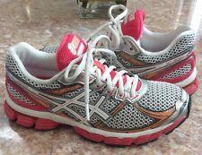 Asics GT 3000 v2 Men's White Orange Pink Running Shoes Size 7.5 T450N.0100 EUC!