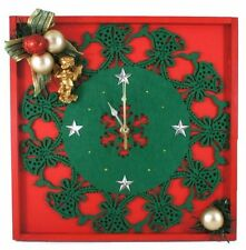 Christmas Decoration, Wall Clock, Christmas Gift, Snow Flake Wall Decor