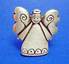 BUY1&GET1@50%~Chelsea PIN ANGEL with HALO Pewter Signed TAC Vtg Jewelry BROOCH