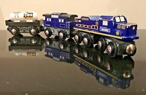 "ECB 3-Car Wooden Train, by Toys ""R"" Us Imaginarium. Compatible w/ Thomas & Brio"