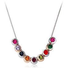 Elegante argento e cristallo colorato piccole palline COLLANA GIROCOLLO N83