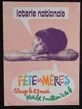 """n°63* Affiche LOTERIE NATIONALE / """"FÊTE DES MÈRES"""""""