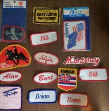 Big Mixed Patch Lot Sew And Iron On Oregon Seattle Bill and other names vintage