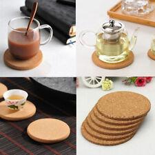 6x Cork Wood Drink Coaster Tea Coffee Cup Mat Table Decor Bottle Tableware