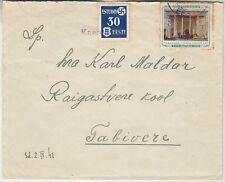 Estonia, Germany Occ letter with provisional cancel Kaarepere, 1941