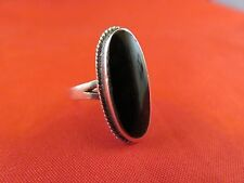 Ring Sz.7 (984) Onyx & Sterling Oval