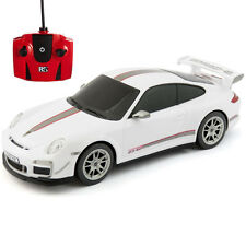 RC REMOTE CONTROLLED CAR 1.24 WHITE PORSCHE 911 GTR3 RS KIDS TOY NEW GIFT