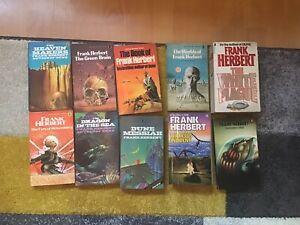 Bundle of 9 Frank Herbert Paperbacks from the 1970s