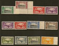 SIERRA LEONE : 1938 GVI definitives 1/2d-1/3d ( both 1 1/2d,2d) SG188-96a mint