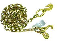 """10' 5/16"""" Grade 70 Chain, Grab Hook with T, Grab Hook other end, Tow Truck -1 Pr"""