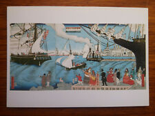 HASHIMOTO SADAHIDE Californie bateaux 1862 carte postale postcard