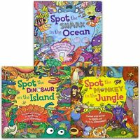 Spot the Fact Collection By Stella Maidment 3 Books Set Dinosaur Monkey Shark