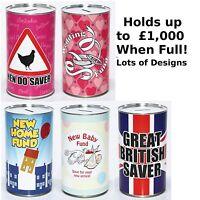 Large Savings Tin - Novelty Money Saving Tins for Girls - Keep Calm & Save Fund