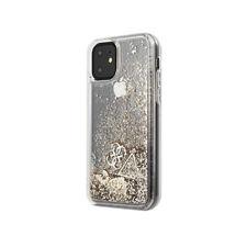 Guess hard cover funda protectora para Apple iPhone 11 Gold brillo corazón bolso Case