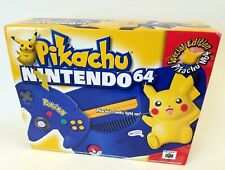 Nintendo 64 Pikachu Pokemon Blue Yellow Console Limited Edition New *Read Desc*