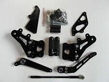 Suzuki GSX R 600 750 K6 K7 K8 K9 L0 CNC Alu Fußrastenanlage Rear Set schwarz