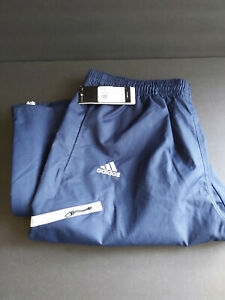 New With Tags Men's Adidas Climaproof Wind Pants Navy/White Size Large