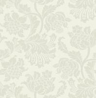 Designtapete Wischtechnik Sand Tapete Glanz Gold Cremeweiß Rosen antik