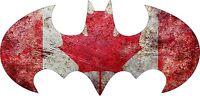 Batman 1998 - Canada Flag - Vinyl Sticker Decal - Full Color CAD Cut Car logo
