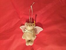 Rare Steiff Angel Bear  With Wings Hanging Christmas Tree Decoration