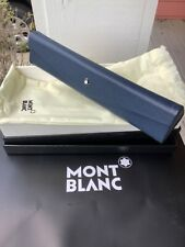 New in Box and Pouch MONTBLANC Foldable Blue Pen Pouch with Shopping Bag