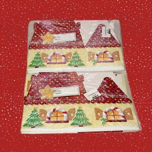 New Vintage Holiday Baked Good Treat Boxes Lot 6 Gingerbread Houses