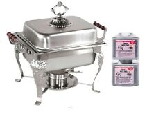 4Qt Classic Rectangular Chafing Dish Chafer Catering Buffet Warmer Free Ship +$