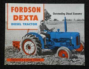 """1959 """"FORD FORDSON DIESEL DEXTA 2-3 PLOW POWER TRACTOR"""" SALES BROCHURE VERY GOOD"""