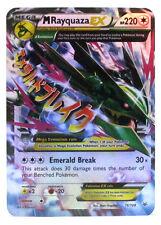 Pokémon Individual Card Mega EX Rayquaza 76/108 with Card Sleeve and Box Case