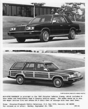 1985 Chrysler LeBaron Sedan and Town and Country Station Wagon Press Photo 0053