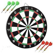 New 12'' Dartboard Dart Board With 6 Darts Ideal Game Gift Fun Play Top Quality