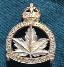WWII ROYAL CANADIAN ARMY CADETS Canada RCAC cap badge PLASTIC economy  WW2