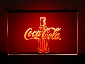 Coca Cola Red 3D Printed Home Bar Mancave Neon Sign LED Light Plaque Bedroom