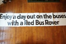 1970s Red Bus Rovers Bus London Transport Huge Advertising Exterior Poster