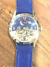 "Rare Vintage Swiss ""Evertime"" Moon Landing Space Watch In Vintage Cadillac Box!"
