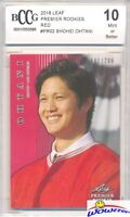 SHOHEI OHTANI 2018 Leaf Premier Rookie#PR2 RED PARALLEL RC #/200 BECKETT 10 MINT