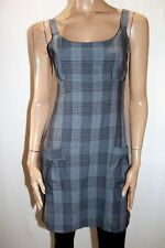 NCC Brand Women's Grey Plaid Pattern Front Pocket Skater Dress Size 8 BNWT #TN14