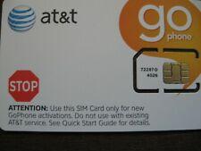 New! At&T Go Phone Nano Sim Card 4G Lte sim. Double cut