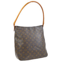 LOUIS VUITTON LOOPING GM HAND TOTE BAG PURSE MONOGRAM CANVAS M51145 LM0061 36862