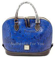 NEW Disney Dooney & Bourke Disneyland 60th Diamond Blue Leather Satchel Purse #1