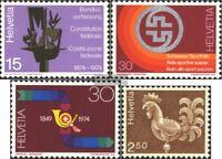 Schweiz 1039-1041,1057y (kompl.Ausg.) gestempelt 1974 Sondermarken