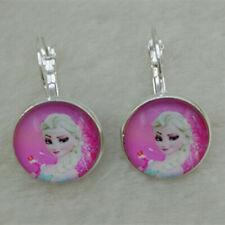 FROZEN Tibet silver Glass  Earrings ROYAL PRINCESS Anna & Elsa gift  A&12