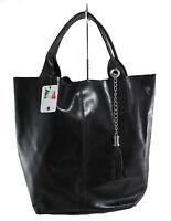 borsa donna da spalla con manici vera pelle made in italy stampata nero 5190