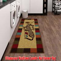 """Ottomanson Washtown Laundry Mat Runner Rug, 20""""X59"""", Multicolor, Stain-Resistant"""