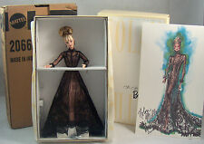 Nolan Miller Sheer Illusion Barbie Couture Collection 1998 & Shipper NRFB Mint!