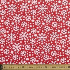 CHRISTMAS SNOWFLAKES NORDIC QUILTING FABRIC