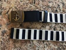 100% AUTHENTIC GUCCI MAN'S BELT, SIZE XXL / 49'', (115) ANCHOR BRASS BUCKLE.NEW.